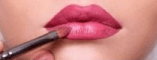 Paint the middle of the lips