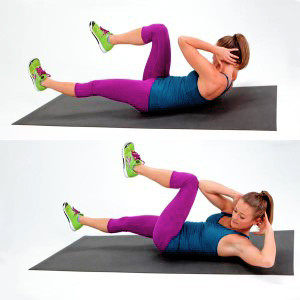 Top 5 exercises for a beautiful abs