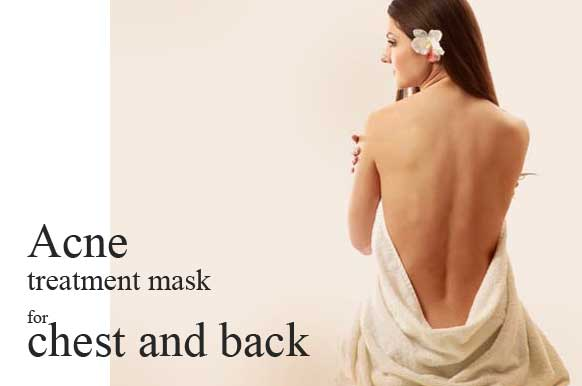 Acne treatment mask for chest and back