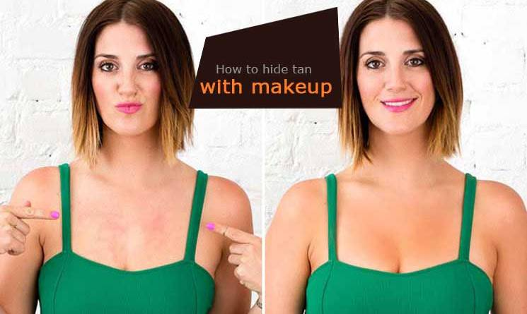 How to hide tan with makeup