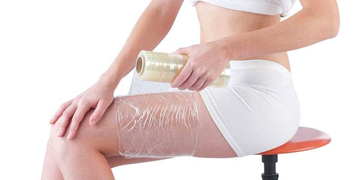 Membrane with heating cream for slimming and flat stomach