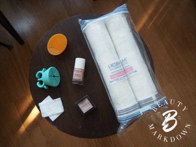 Poundland aldi beauty cotton pads