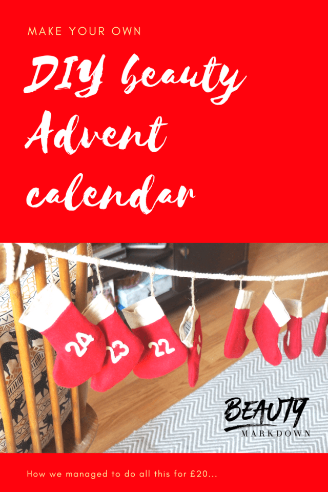 Make your own Beauty Advent calendar DIY
