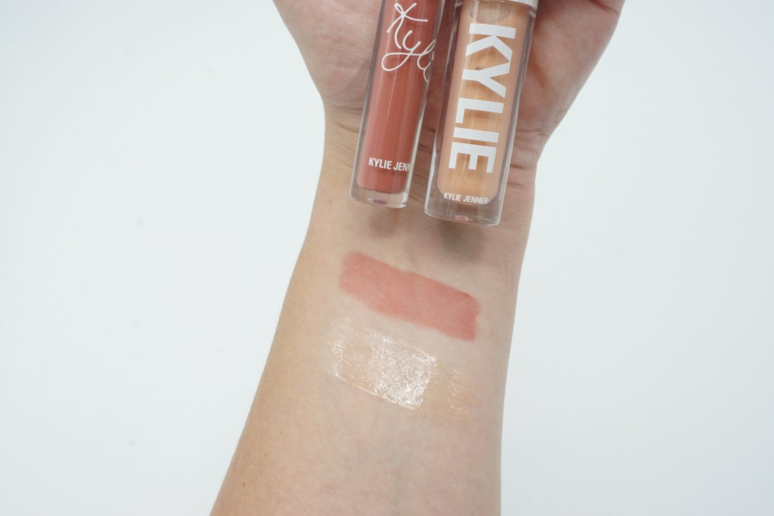 Kylie Cosmetics Summer 2019 Collection - Lip Blush Bikini Bod and High Gloss You are the Sun Swatches   Review