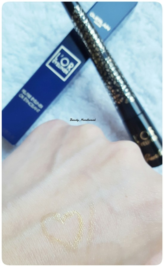 Swatch Guerlain L'or eyeliner Collection Noël 2016
