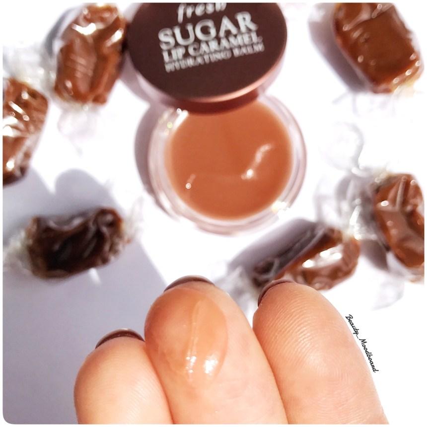 baume au sucre hydratant pour les lèvres au caramel texture ultra fondante