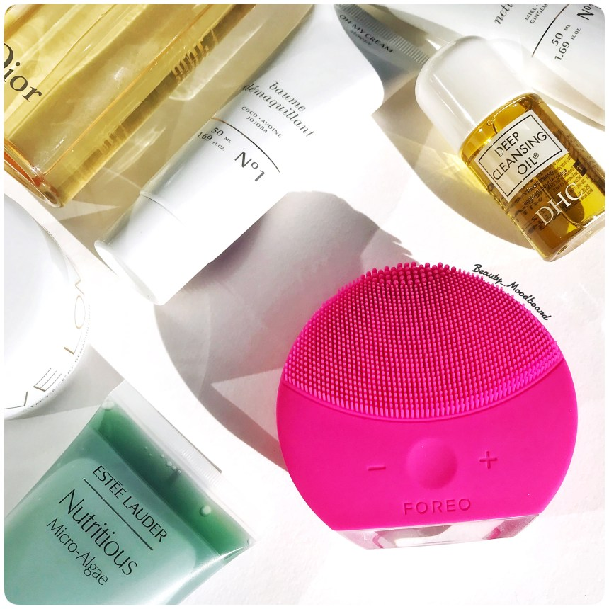 Routine soins visage brosse silicone foreo Luna Mini 2