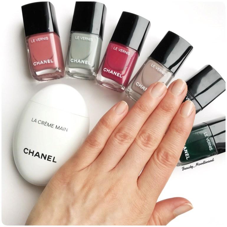Swatch ongles effet nus avec la base Chanel