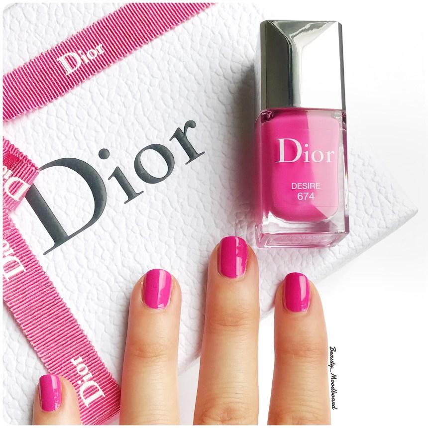 Dior vernis Glow Addict Desire 674 Printemps 2018