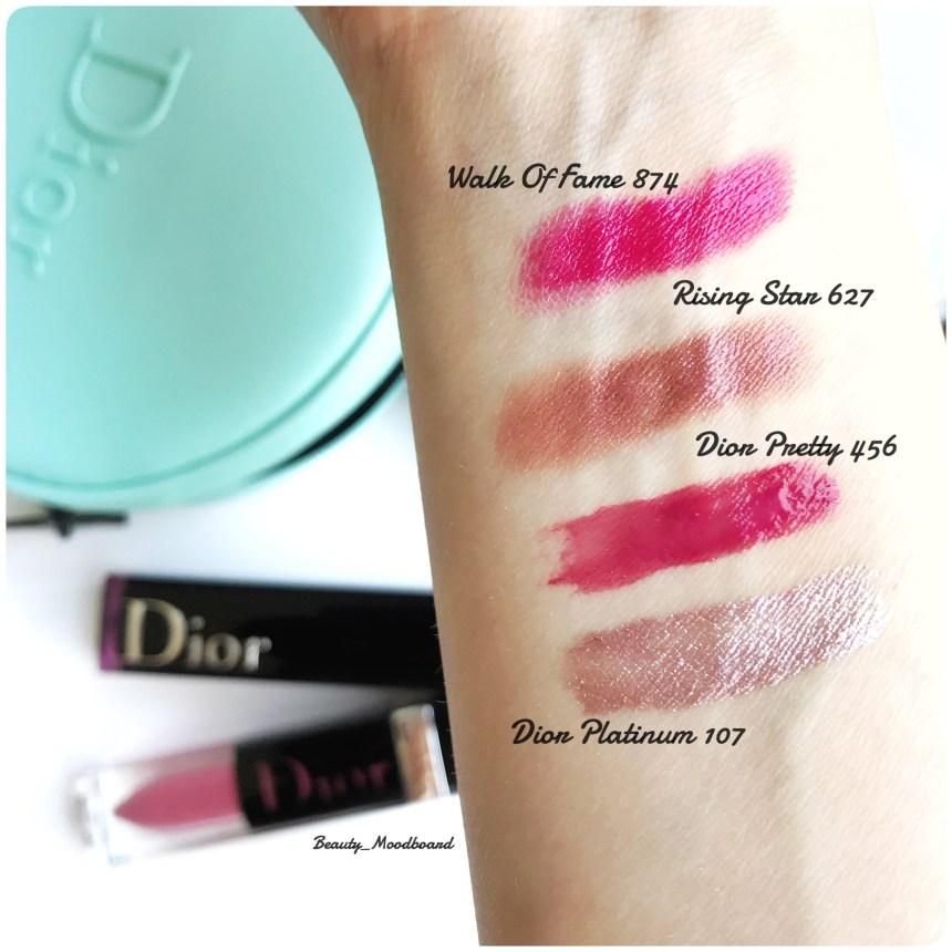 Swatches de mon haul Dior Lipsticks