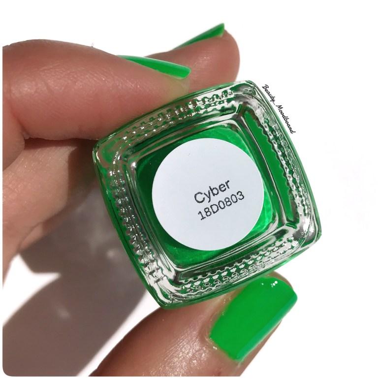 Cyber vernis Cirque Colors vert pelous néon