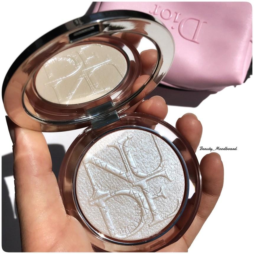 Nouveau highlighter Dior Makeup holographique aux reflets argentés