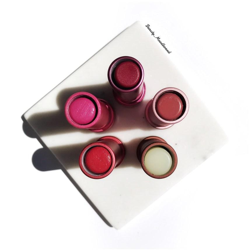 Baumes à lèvres colorés clean beauty