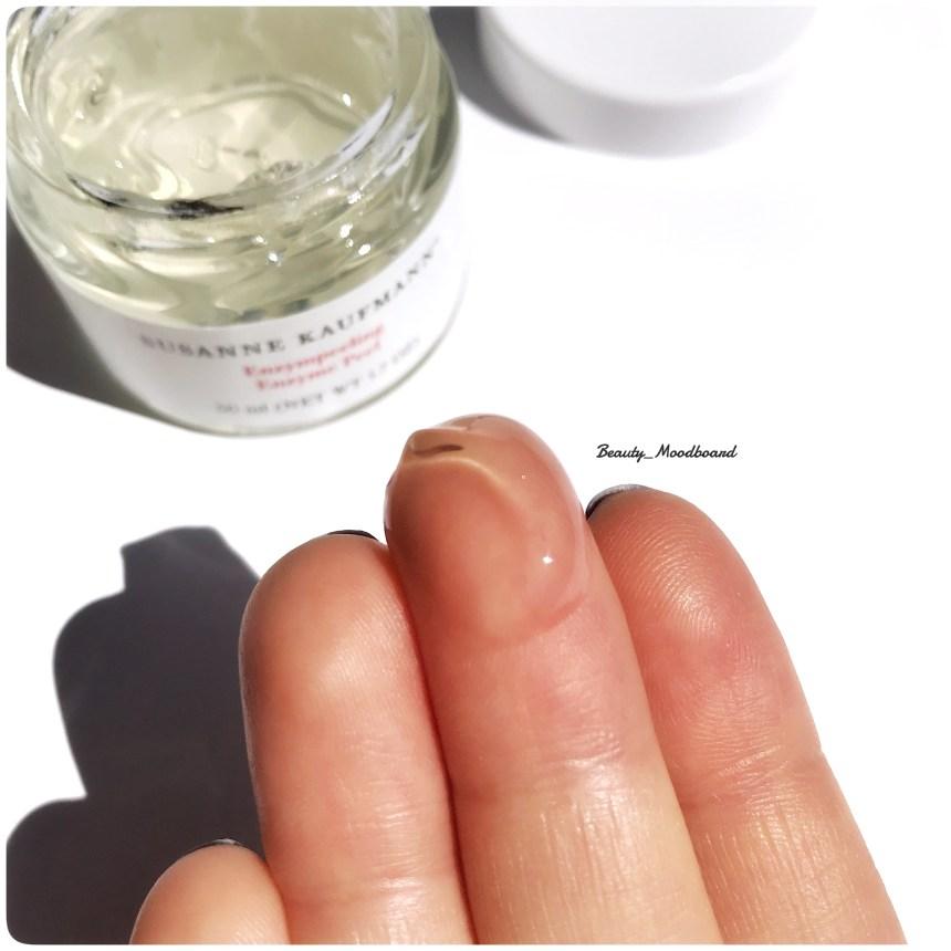 Texture gel frais peeling visage ingrédients naturels