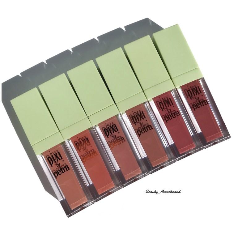 5 teintes de rouges à lèvres liquides nude Bare Beauty Matte Beige Pastel Petal Really Rose Evening Rose
