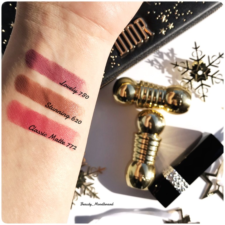 Swatches Rouges à lèvres Dior Holiday Look 2018 Midnight Wish