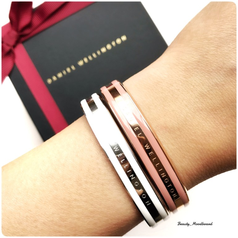 Bracelet Classic Daniel Wellington Satin White et Dusty Rose