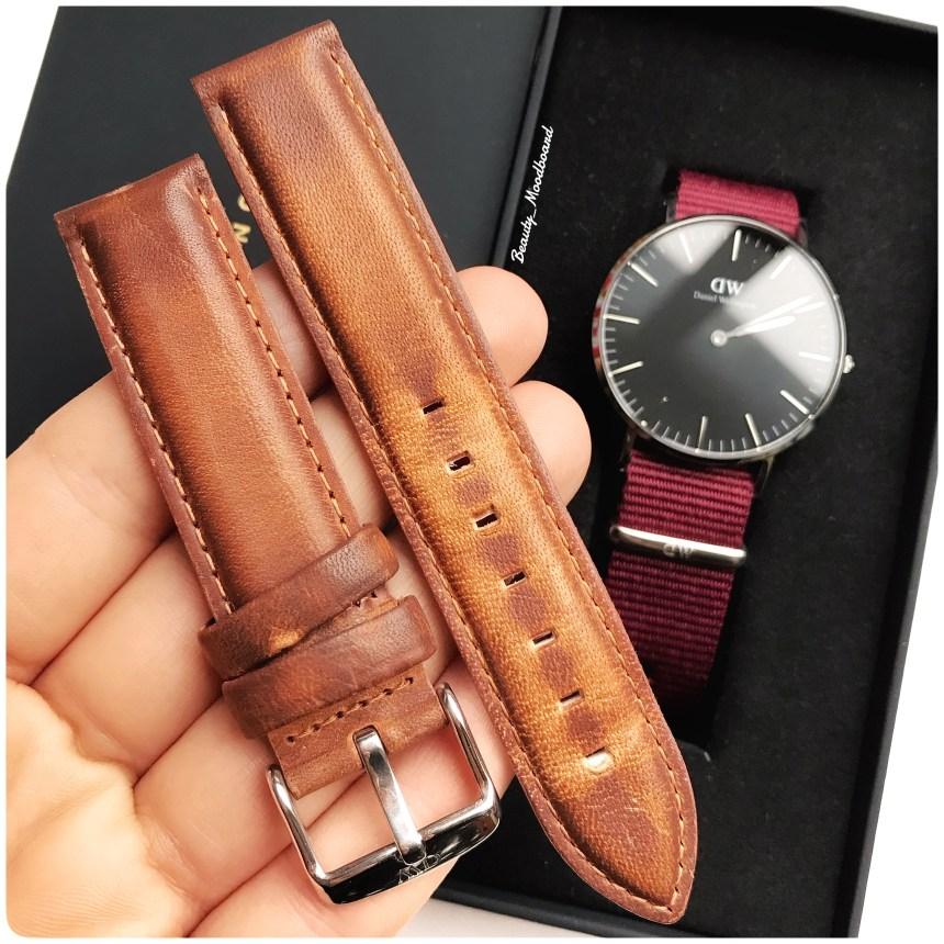 Bracelet interchangeable couleur fauve Durham pour modèle Classic 36mm