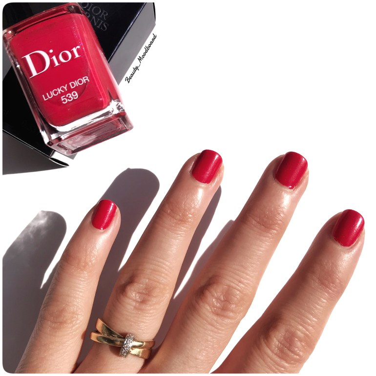Swatch Lucky Dior 539 couleur rouge orangé irisé