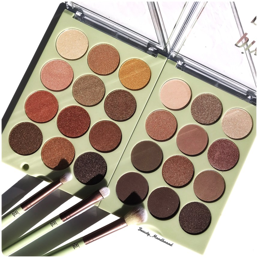 Eye Shadow Palette & makeup brushes Pixi By Petra