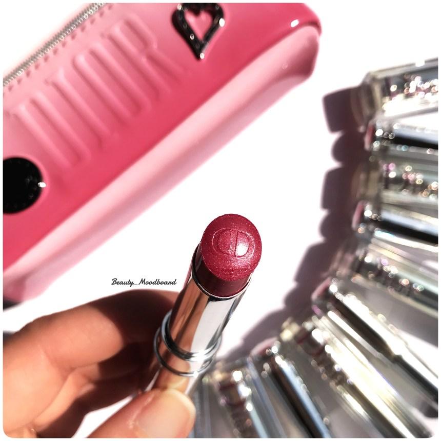 Couleur de rouge à lèvres rose givré métallique Dior Starlight 571