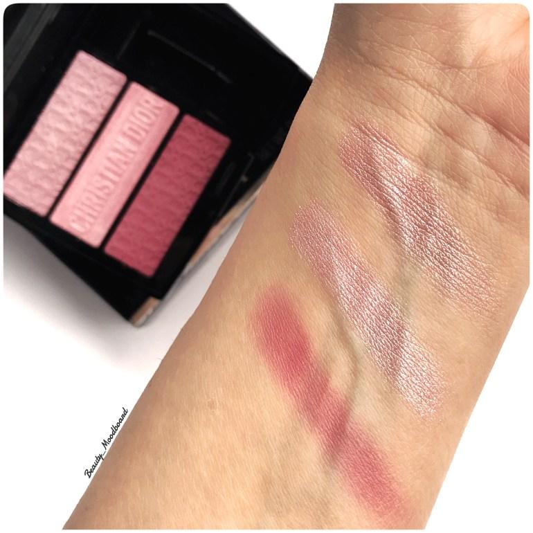 Swatches palette Dior 3 Couleurs Tri(O)blique Rosy Canvas 853