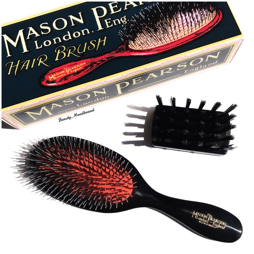 Mason Pearson Handy Mixte Dark Ruby et brosse de nettoyage