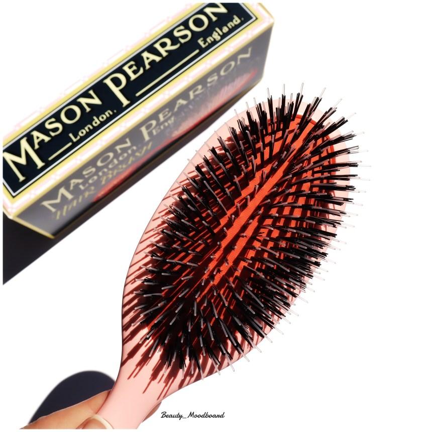 Duo picots nylon et soies Mason Pearson Pink Handy Mixte