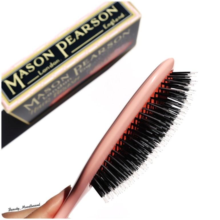 Détail de la tête de la brosse Mason Pearson Handy Mixte Pink