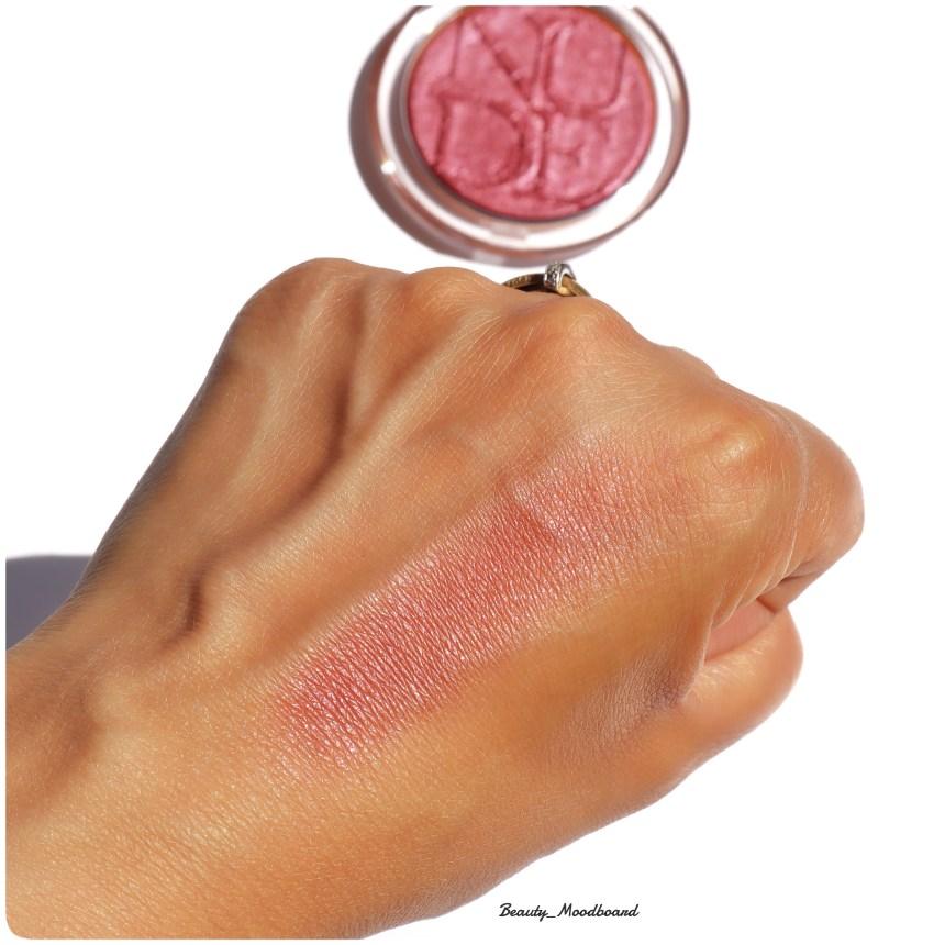 blush couleur bois de rose intense chromé