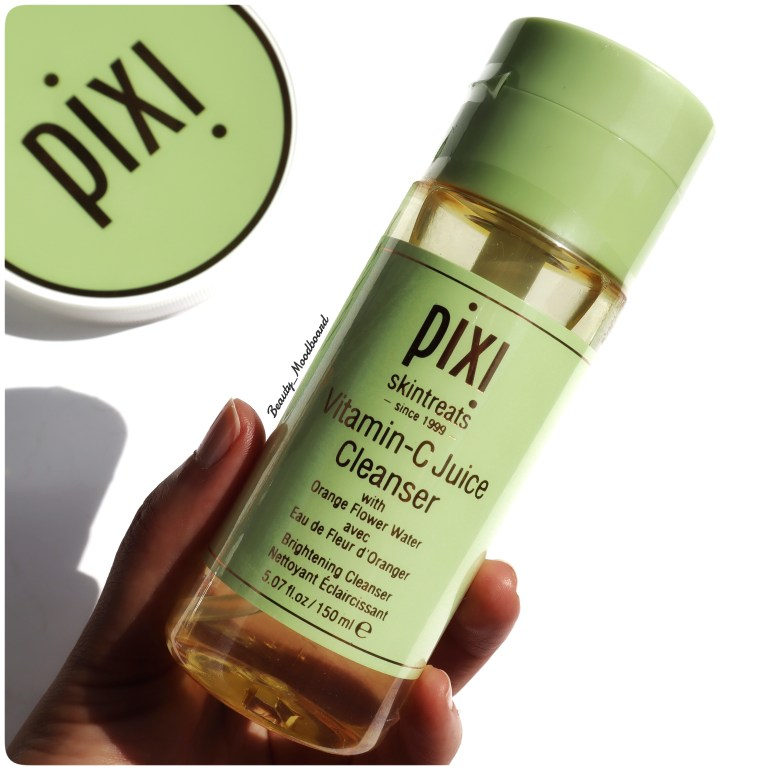 Flacon Pixi skintreats gamme vitamine C juice Cleanser éclat du teint