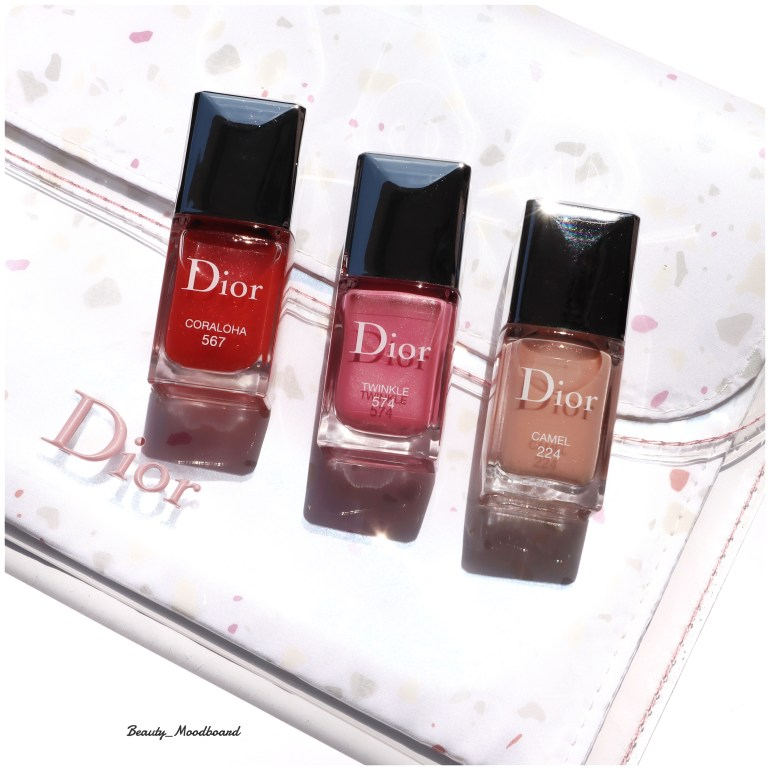 3 éditions exclusives dior vernis Coraloha 567 Twinkle 574 Camel 224