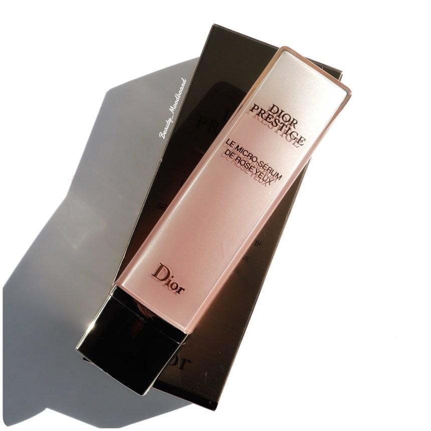 Nouveau Dior Prestige Micro Sérum de Rose Yeux pour défatiguer et lisser le contour de l'oeil