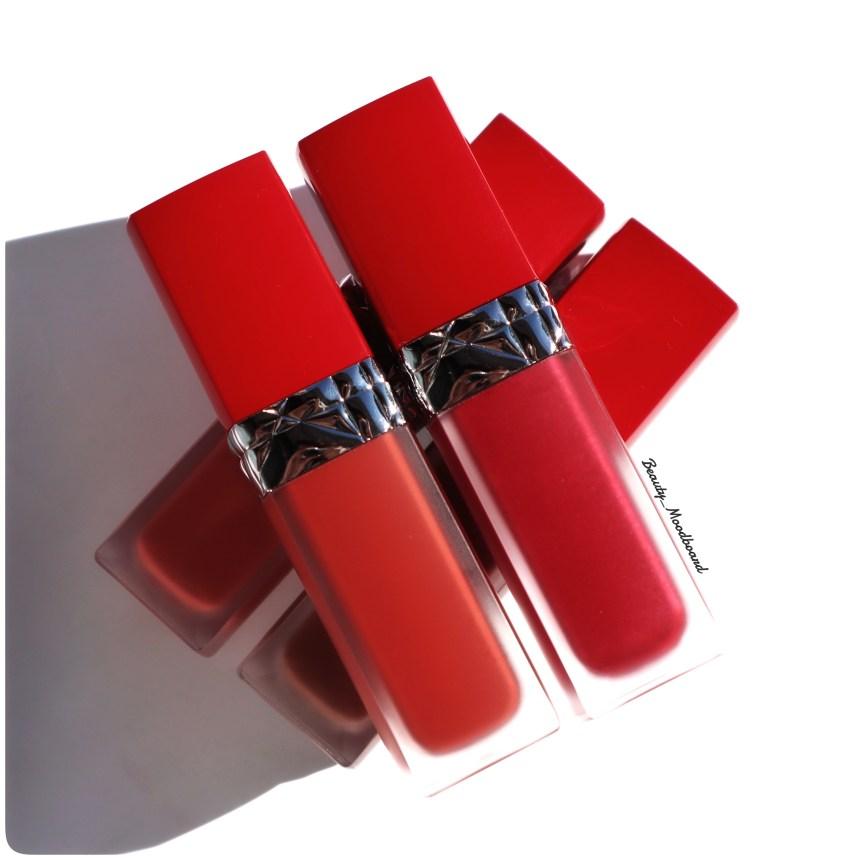 4 teintes des nouveaux rouges à lèvres Dior infusés à l'huile florale