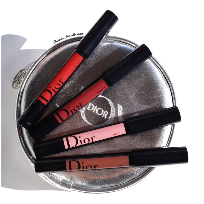 Edition limitée Dior Rouge Graphist 4 teintes Shout It 999 Tag It 824 Draw It 784 Write It 474