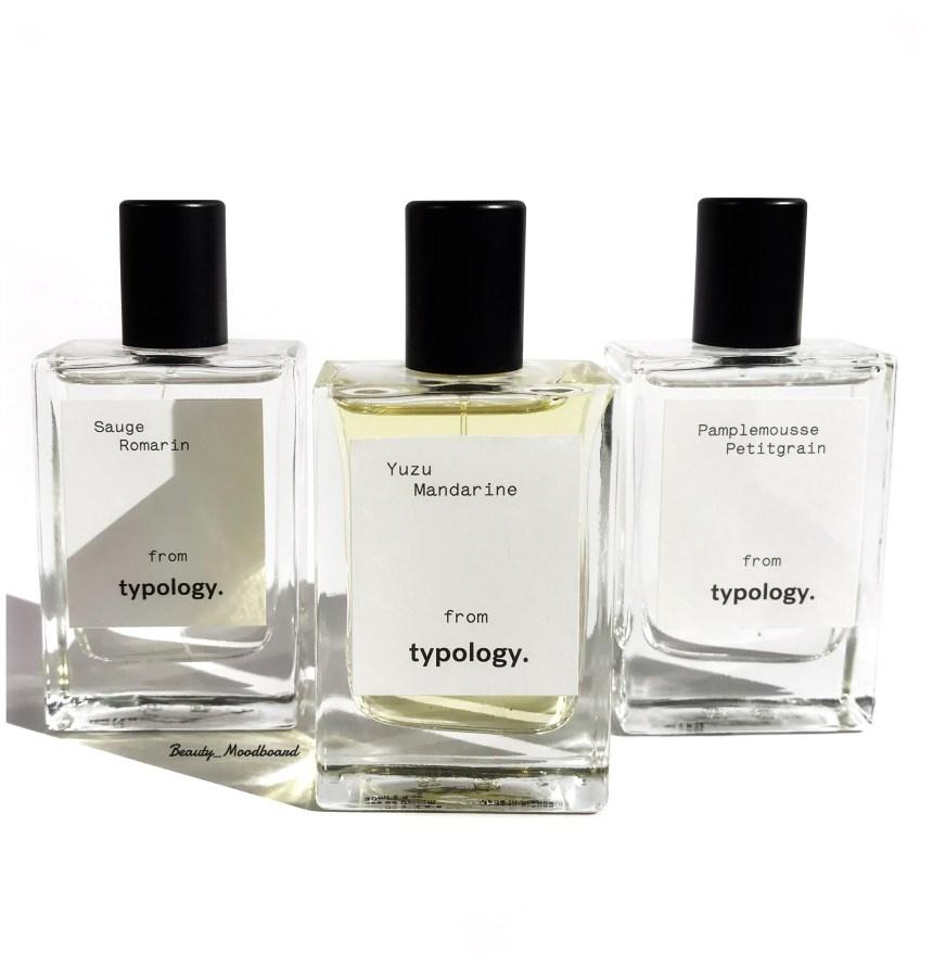 Eaux de Parfum naturelles pour composer un parfum hespéridé Typology