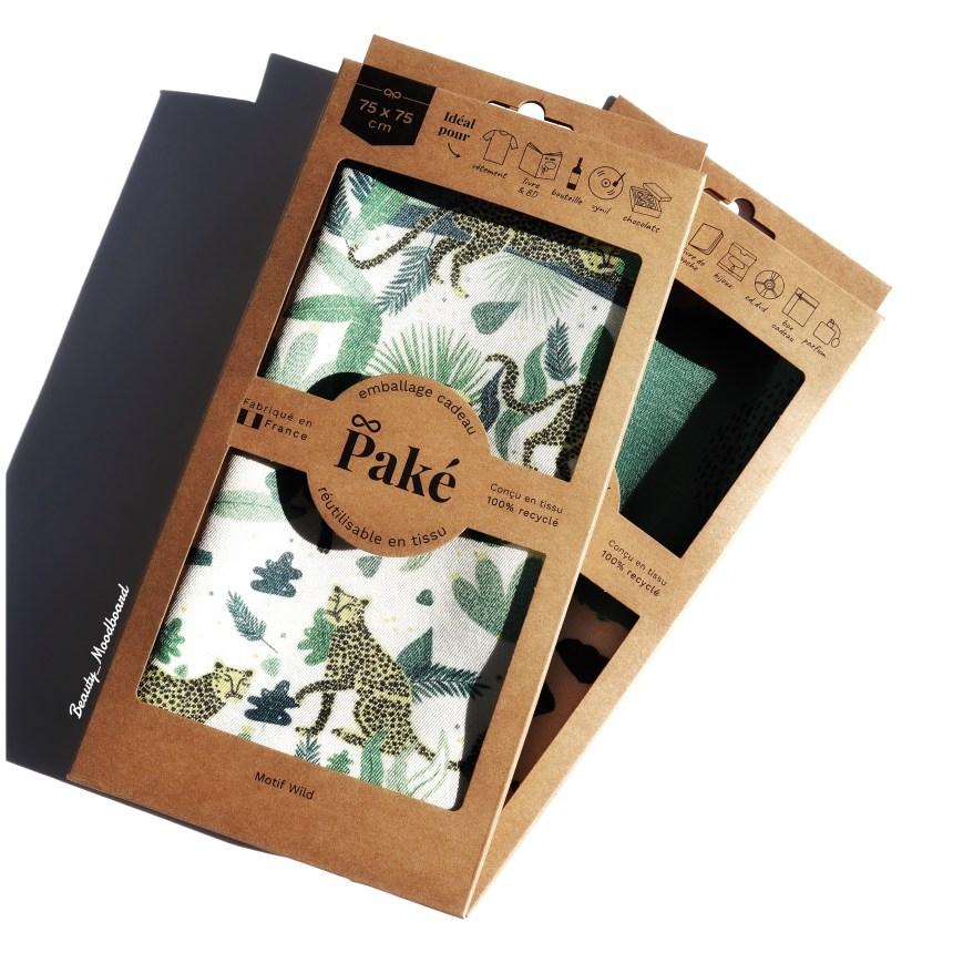 emballage cadeau écologique et zero déchet paké