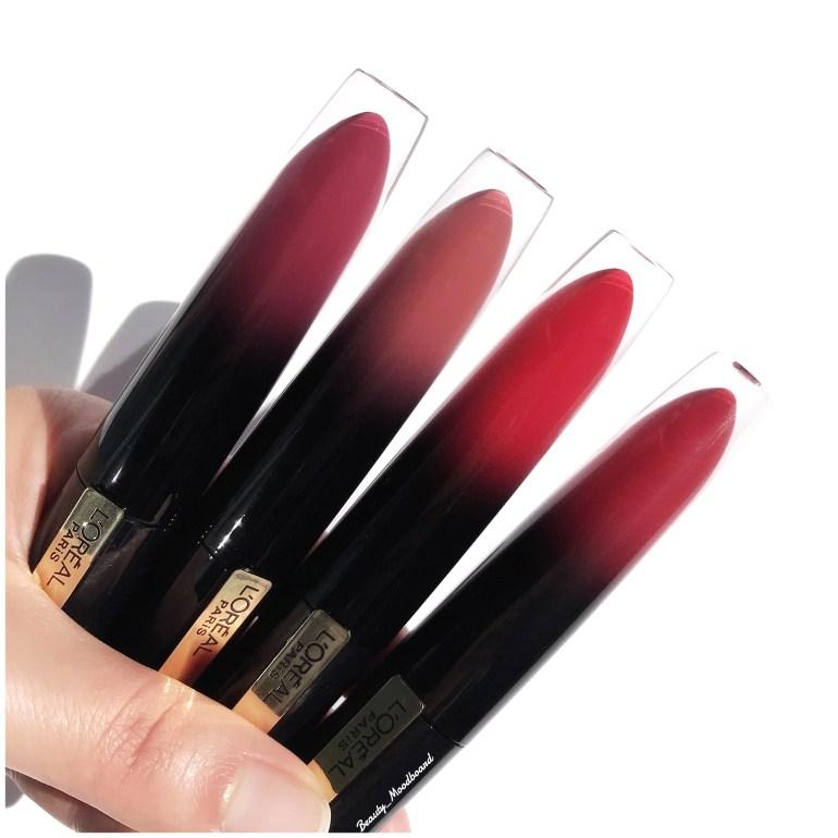 rouges à lèvres liquide haute pigmentation brillance extrême l'oréal paris