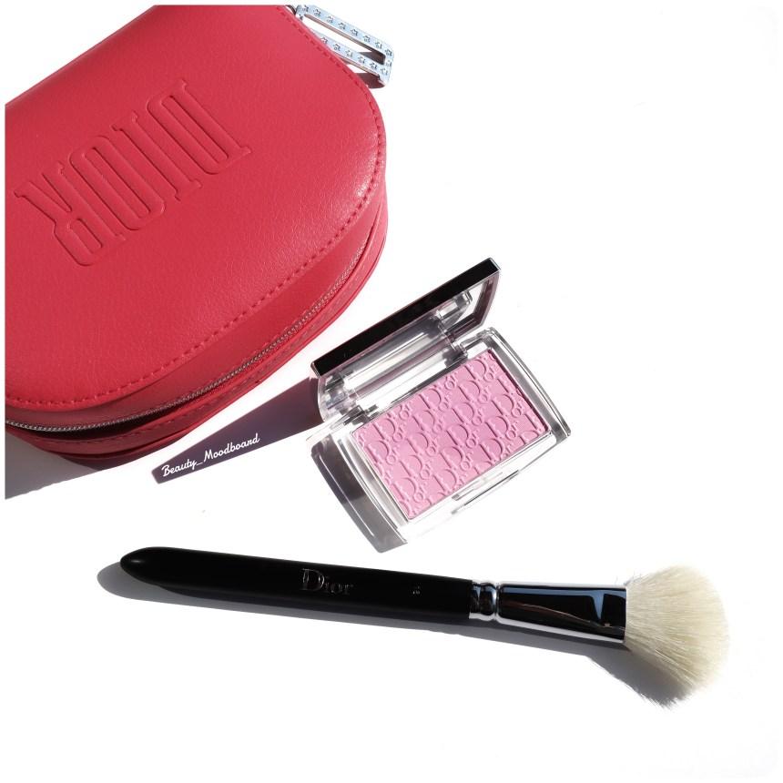 Nouveautés Dior Backstage Rosy Glow Blush pochette Dior rose et pinceau blush Dior Backstage