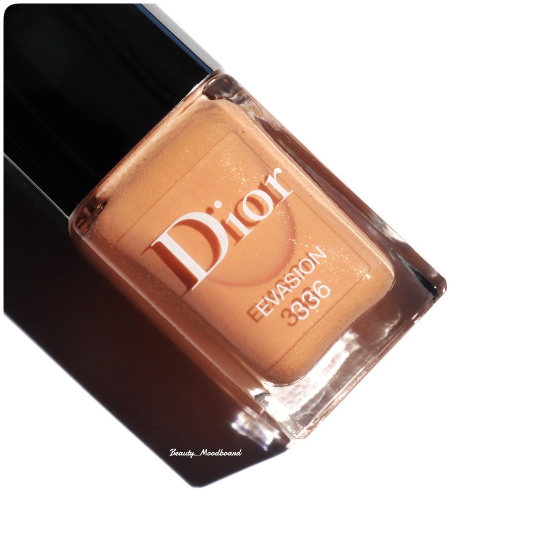 Vernis Dior corail pastel Evasion 336