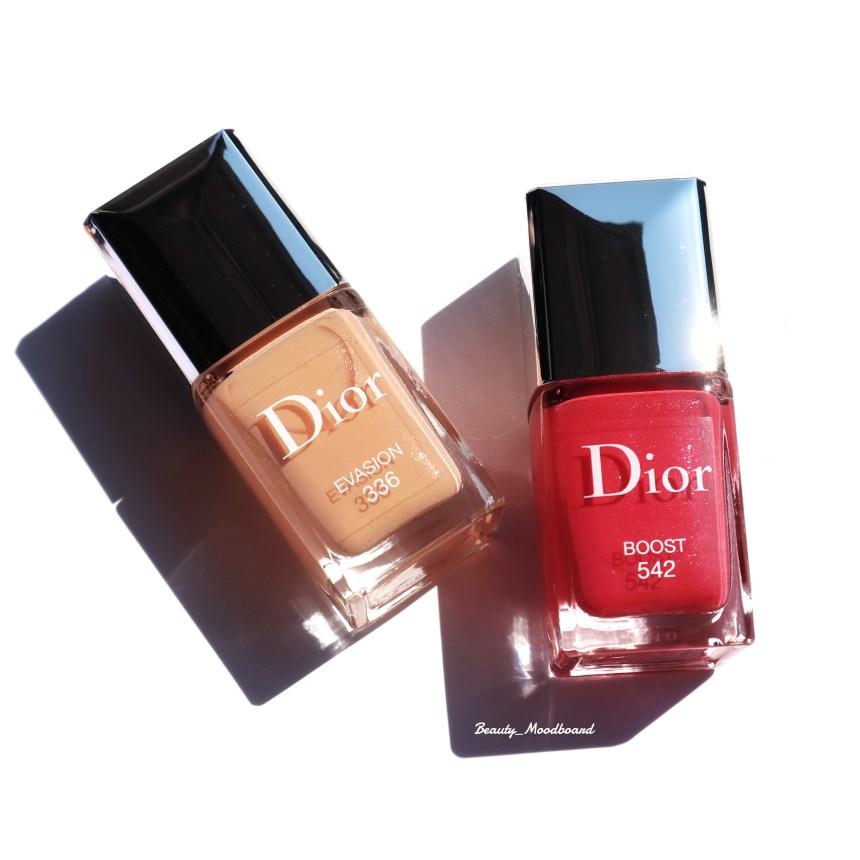 Vernis Dior Evasion 336 et Boost 542