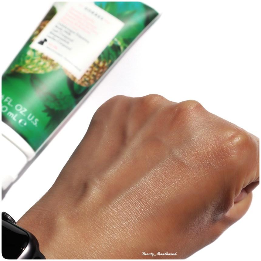 Swatch peau hydratée soins corps composition naturelle