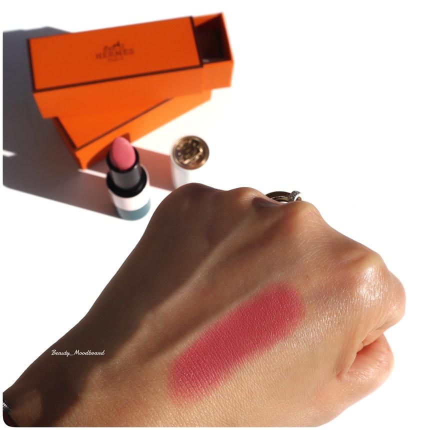 Swatch Rouge à lèvres Hermès Rose Nuit 54 Mat
