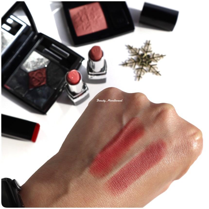 Swtaches Rouge Dior Lipsticks Golden Nights 2020