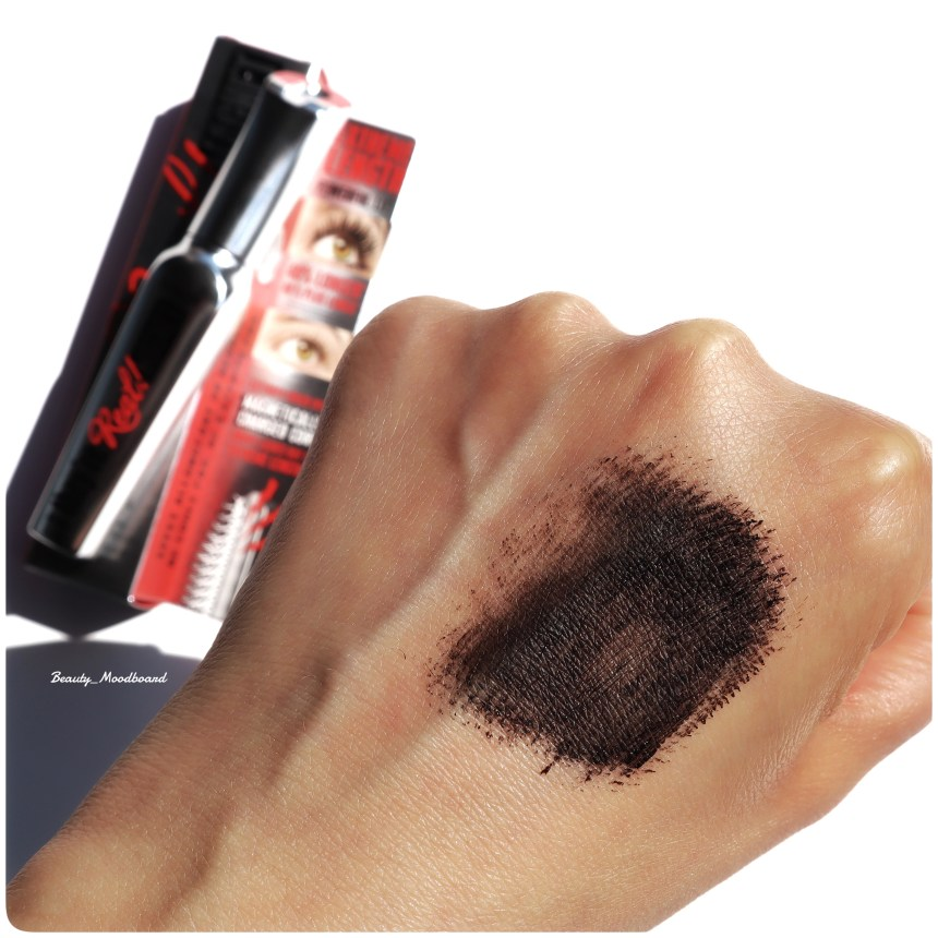Swatch Mascara Benefit They're Real Magnet