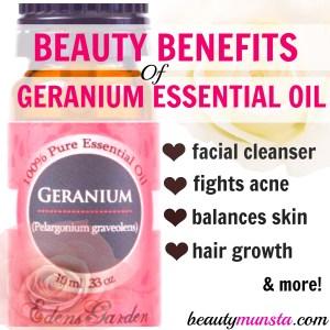 10 Beauty Benefits of Geranium Essential Oil