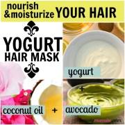 3 nourishing yogurt hair mask recipes