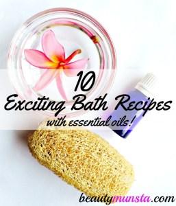 10 Exciting Essential Oil Bath Recipes | Bath Oils, Salts, Bombs & Blends
