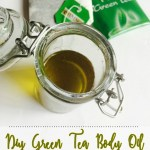 DIY Green Tea and Coconut Oil Moisturizer | My Body Oil Recipe