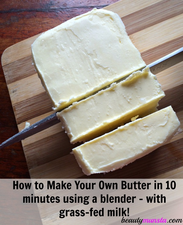 You gatta try homemade butter if you haven't already! It tastes so heavenly and is good for your health as well! Learn how to make your own + its health benefits!
